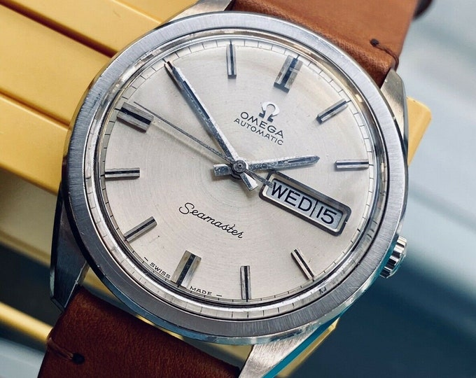 Omega Seamaster 36.5mm Jumbo Steel Mens Vintage Automatic Day Date used watch