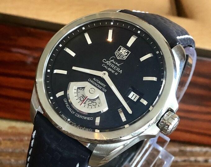 TAG WAV511A Grand Carrera Calibre 6 Automatic Chronometer Blue dial Mens watch + New Box