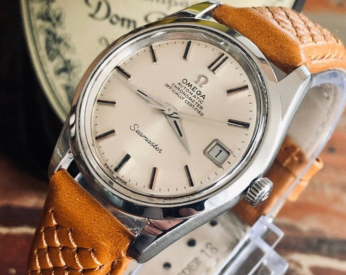 Omega Seamaster Stainless Steel Mens Vintage 1969 Chronometer Automatic watch in stunning condition + New Box