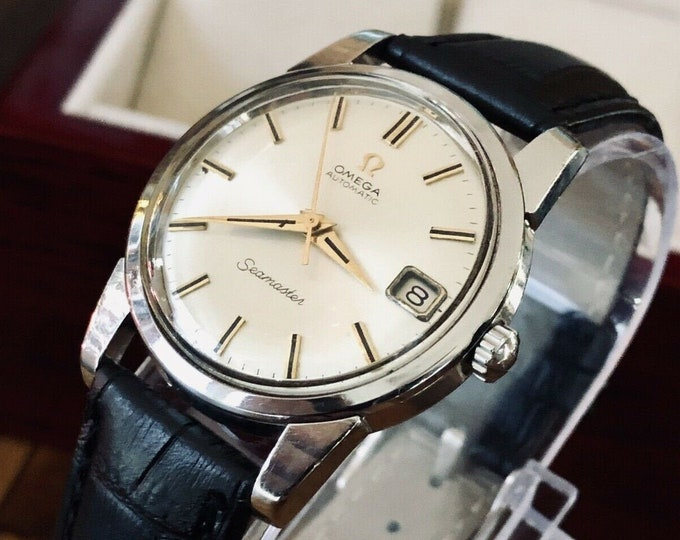 Omega Seamaster Stainless Steel Mens Vintage 1961 dress Automatic watch + Box
