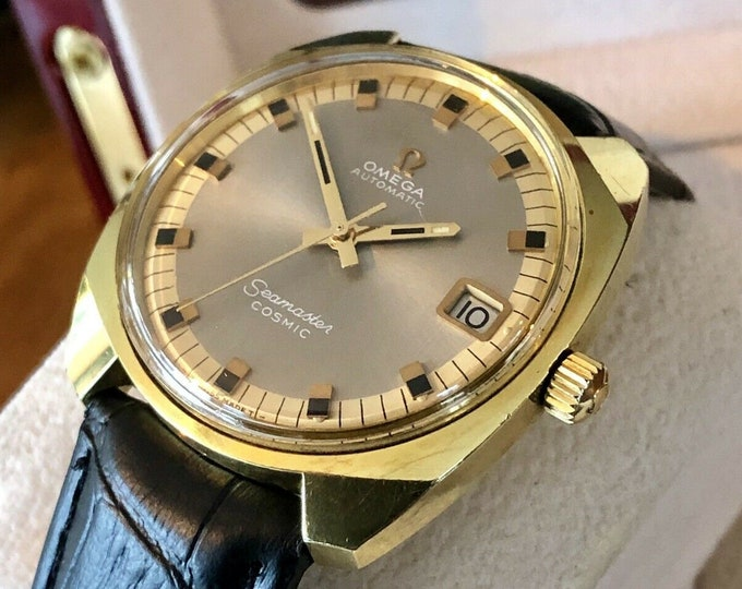 OMEGA Seamaster Cosmic 166022 1967 Automatic Gold gold vintage mens Date watch