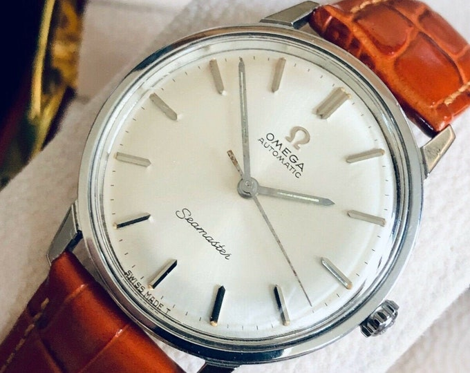Omega Seamaster Stainless Steel Mens Vintage 1964 watch in stunning condition + New Box