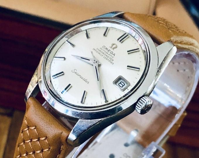 Omega Automatic Seamaster Mens Vintage Chronometer Steel 1969 dress watch + Box + New Box