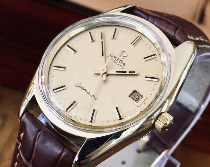 Omega Automatic Seamaster 1969 Mens Vintage Gold Capped Steel Calibre 565 watch