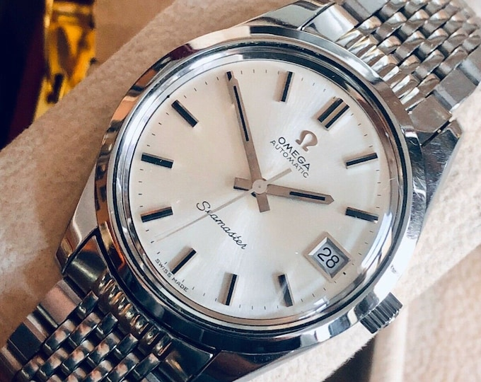 Omega Automatic Seamaster 1972 Mens Vintage Stainless Steel Calibre 1012 watch