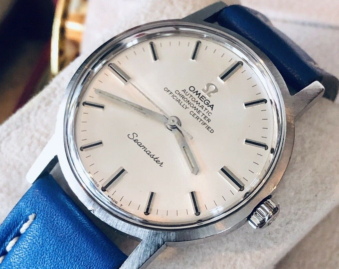 Omega Automatic Seamaster Men Vintage Chronometer Steel 1967 serviced watch