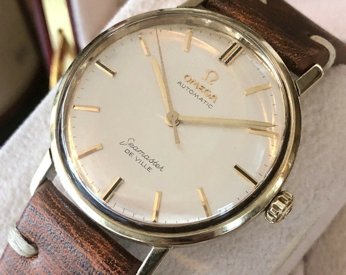 Omega Mens Seamaster Automatic Mechanical Gold Capped Vintage 1960s Mens 34mm Unisex watch