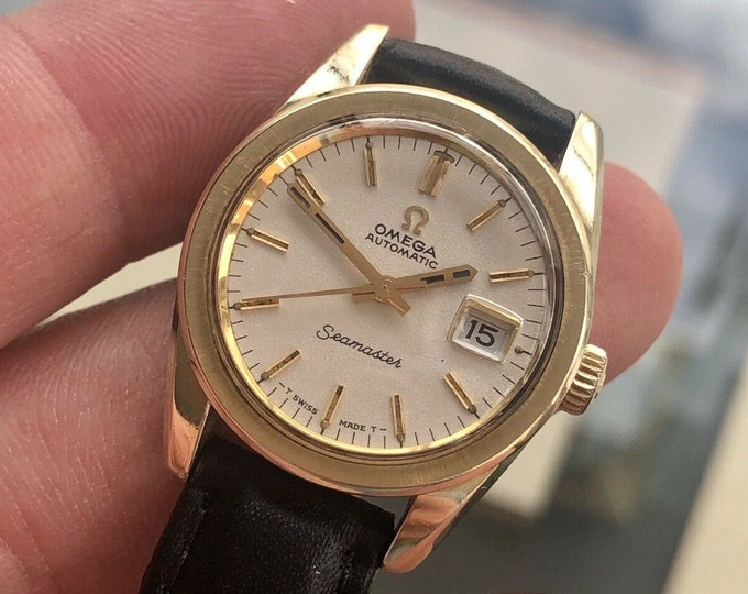 Omega Seamaster Gold Lady Womens 1960s Vintage Automatic Used Swiss Watch