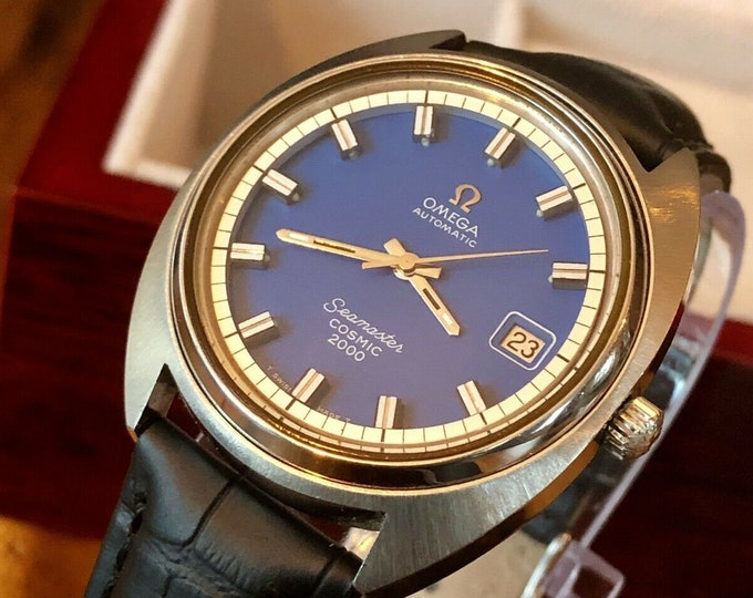 Omega Seamaster Cosmic 2000 Blue Dial Vintage 1970s Steel Mens Automatic watch