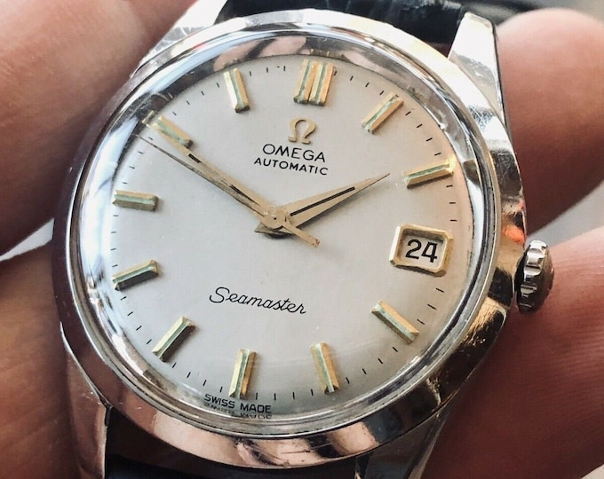 Omega Seamaster Stainless Steel Mens Vintage 1961 dress Automatic watch + New Box