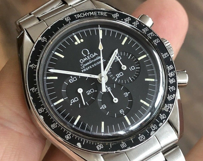 Omega 1974 Vintage Speedmaster Professional 145.022 Calibre 861 Moonwatch - Pre Moon Mechanical Hand WinDing watch + Box