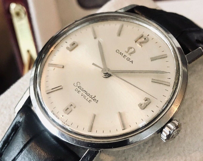 Omega Seamaster De Ville vintage 1960s Mens unisex 33mm vintage classic watch + New Box