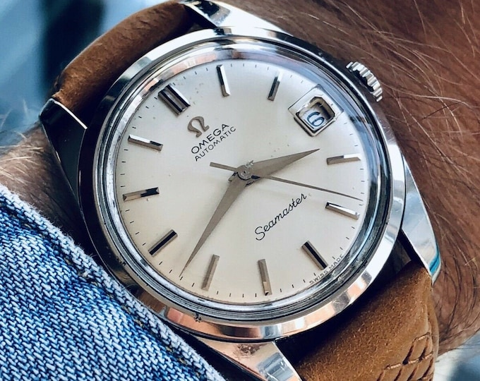 Omega Seamaster Automatic Caliber 562 Steel Mens 1966 Jumbo Vintage 35mm dress Date second hand used watch
