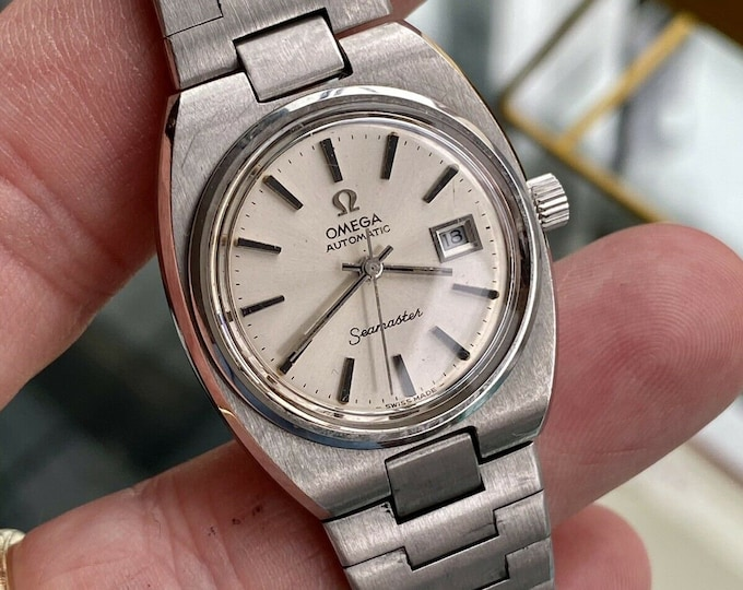 Omega Seamaster Automatic Lady Women Vintage Stainless Steel Used Cal 684 antique watch