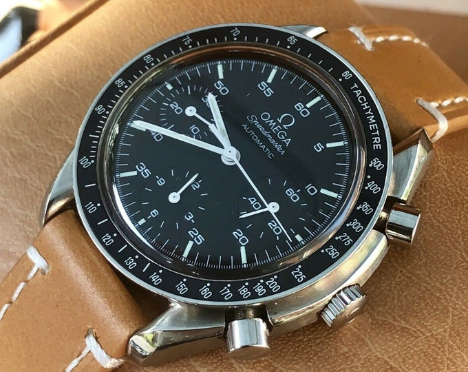 Omega Speedmaster Black Dial Ref 3510.50 Calibre 3220 Men's chronograph reduced Automatic 39mm watch + Box