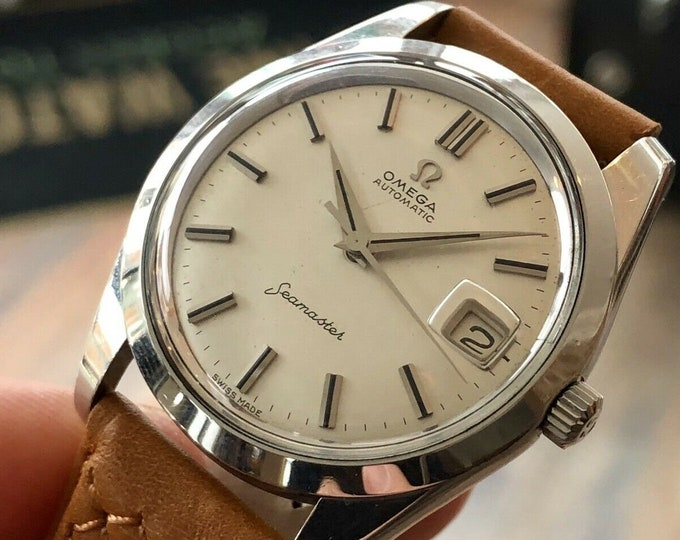 Omega Automatic Seamaster 1962 Mens Vintage Stainless Steel Calibre 562 brown leather used watch + New Box