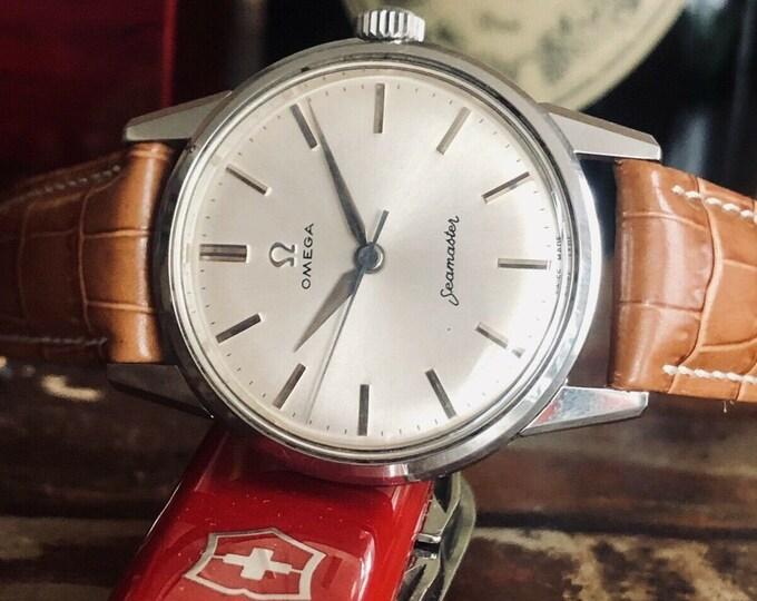 Omega Seamaster Serviced May 2020 rare Jumbo size vintage hand winding watch + Box