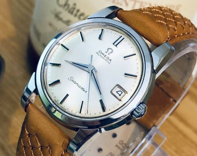 Omega Seamaster Stainless Steel Mens 1963 34mm size Vintage stunning Caliber 562 watch  + New Box