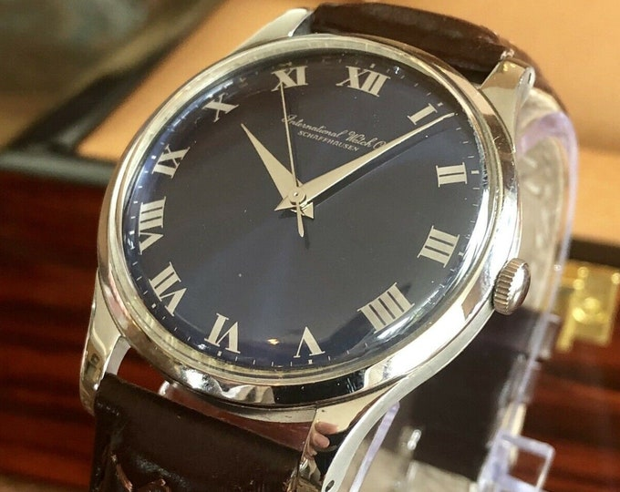 IWC Stainless Stainless Steel Mens Automatic watch calibre 89 vintage gent wristwatch + New Box