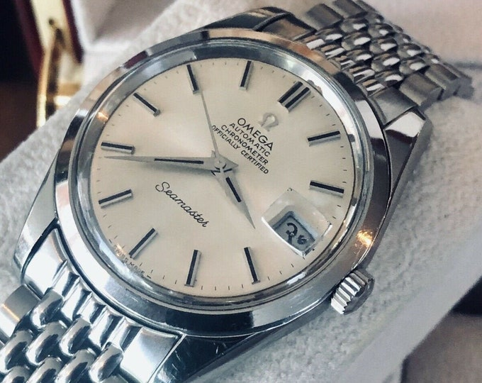 Omega Automatic Seamaster Mens Vintage Chronometer Calibre 564 Steel Rice bracelet 1969 watch