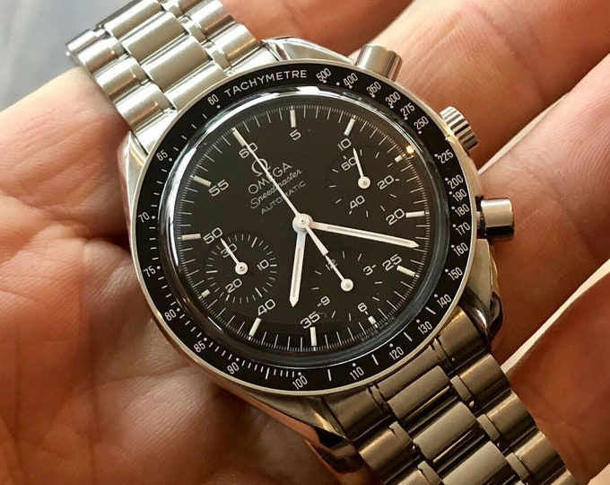 Omega Speedmaster Black Dial Men's reduced Automatic calibre 3510 Calibre 3220 47 Jewels watch Box + warranty card