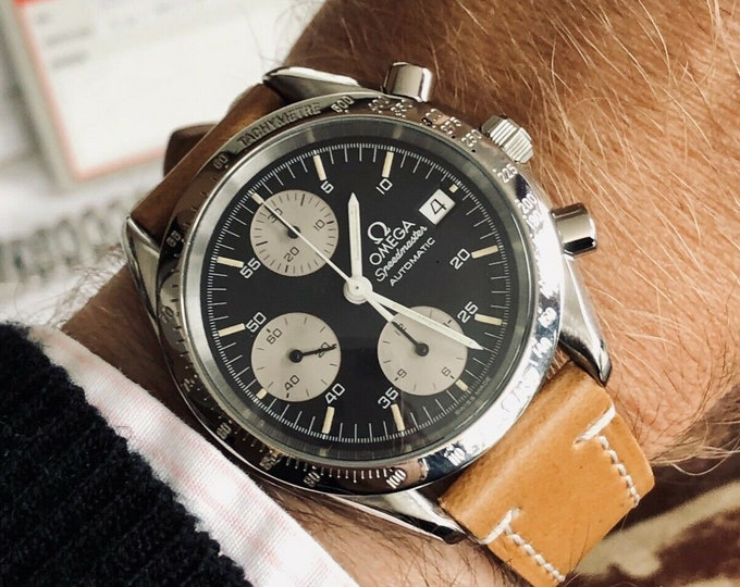 Omega Speedmaster Black Reverse Panda Dial Men's reduced Caliber 1155 Automatic second hand used watch + Box