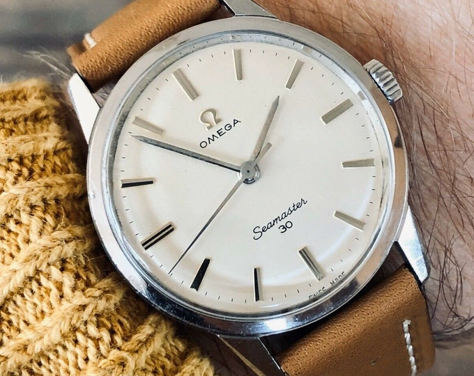Omega Seamaster 30 Stainless Steel Mens Vintage 1963 watch in stunning condition + Box