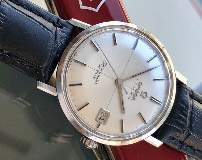 Omega Seamaster De Ville Steel Mens Vintage 1960s steel Crosshair Dial second hand used watch