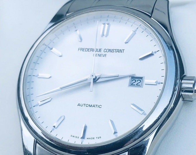 Frederique Constant White Dial Geneve Mens Automatic Watch FC-303X6B24/6+ Box