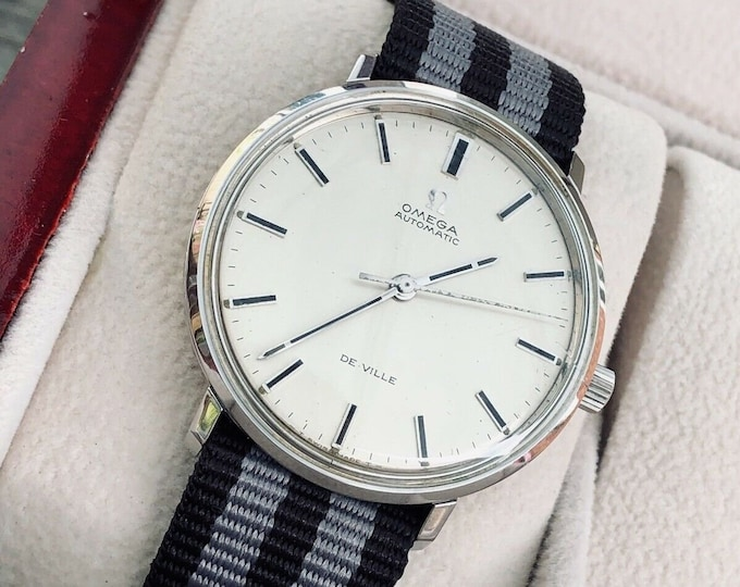 Omega Vintage 1969 Mens De Ville Automatic Nato Band Spectre James Bond Watch CAL 552 + Box
