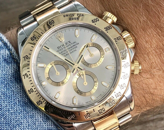 Rolex Daytona Chronograph 116523 Rolesor Steel Bi-Metal 18K Gold Steel Bracelet Grey Dial | Full Set | Papers | Box |