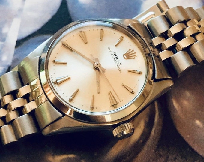 Rolex Oyster Perpetual Ref 6549 1960-69 Automatic 1160 midsize 31mm watch fully working unisex wristwatch + box