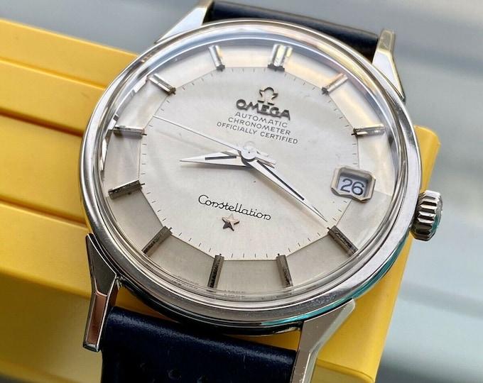 Omega Constellation Automatic Pie Pan vintage Steel Bracelet mens 1969 serviced November 2020 watch