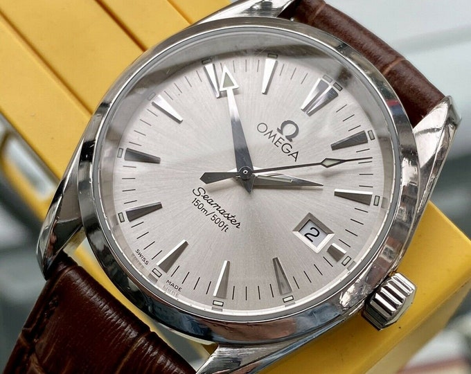 Omega Seamaster Aqua Terra Quartz Men's 150M Silver Dial 36.50mm Steel Watch