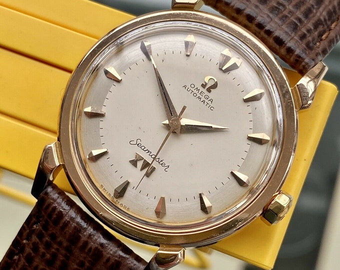 Omega Seamaster XVI Special Edition Ref 2984 SC Melbourne Olympics vintage Rose Gold men's serviced March 2021 watch