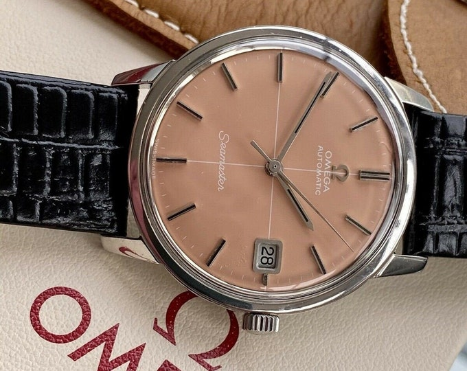 Omega Seamaster Salmon Dial Automatic Steel Mens Vintage serviced 2021 watch
