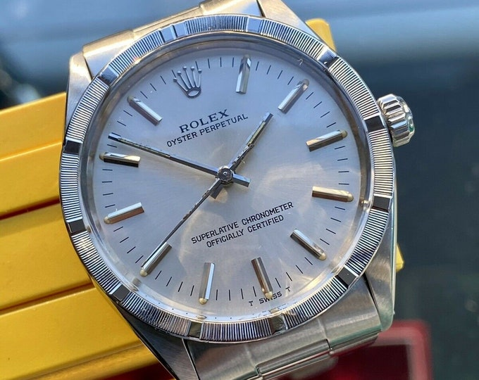 Rolex Oyster Ref 1007 Perpetual 1973 Mens used Automatic Stainless Steel vintage watch Full Set Papers Box