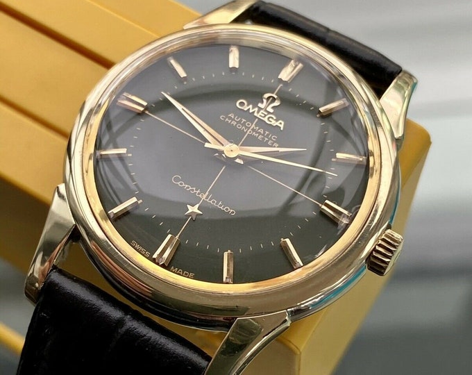 Omega Constellation Calendar Green Dial Automatic vintage Steel mens 1959 watch