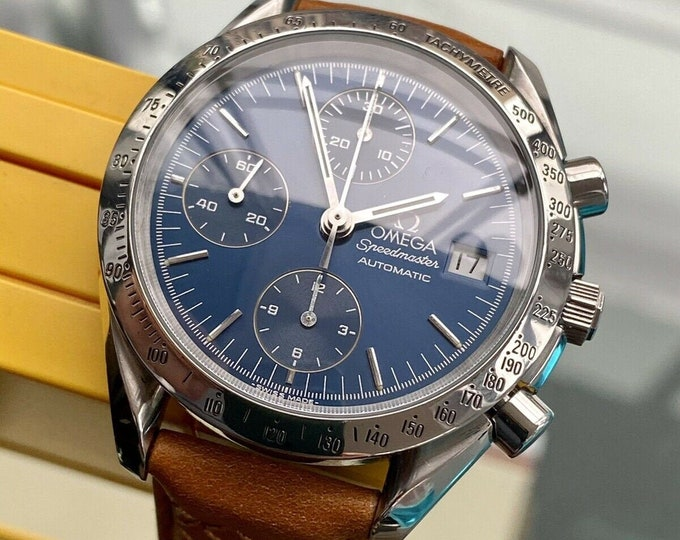 Omega Speedmaster 1999 Blue Dial Men's 38mm reduced Automatic watch + New Box