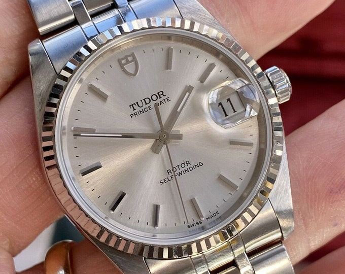 Tudor Rolex Prince Oysterdate Automatic Steel Ref 74034 34mm 2000s Full Set watch + Box  + Papers