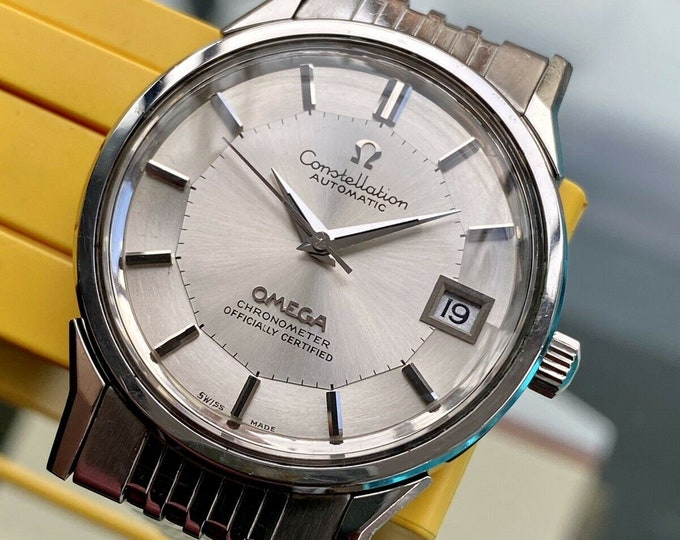 Omega Constellation Automatic Pie Pan vintage Steel Bracelet mens 1973 Serviced October 2020 watch