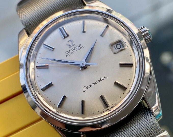 Omega Seamaster Automatic 565 Steel Mens 1967 35mm Jumbo size Vintage watch
