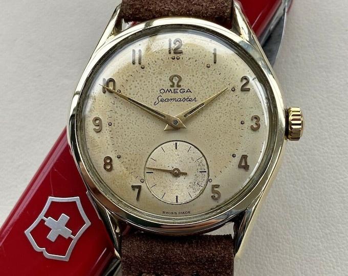 Omega Seamaster Sub Seconds Gold Steel 267 Men Ref 2891 3 Vintage 1956 watch