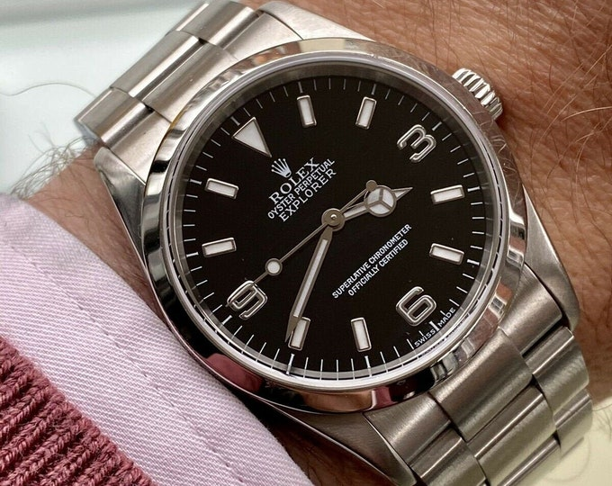 Rolex Oyster Perpetual EXPLORER 114270 2000s Full Set Box & Papers NATO mint condition watch