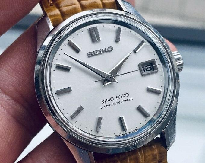 King Seiko mens 4402-8000 Mechanical Hand Winding Japan Steel vintage 35mm watch