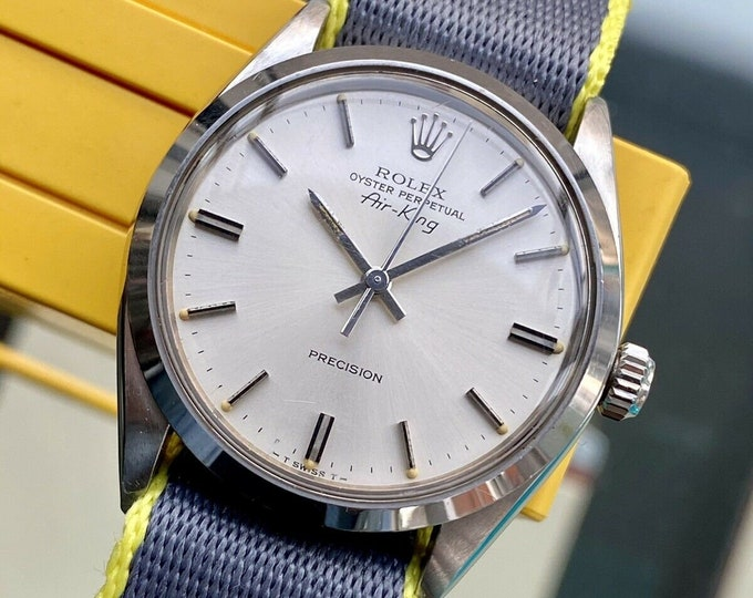 Rolex 1979 Air King Oyster Perpetual Automatic Mens Steel Vintage watch + Box