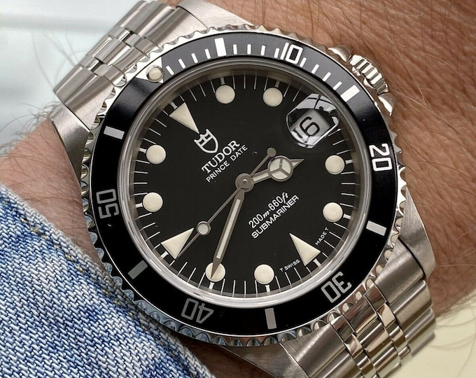 Tudor Submariner Prince Date Full Set 75190 Rolex vintage 1997 papers Watch Box Serviced February 2021 Watch