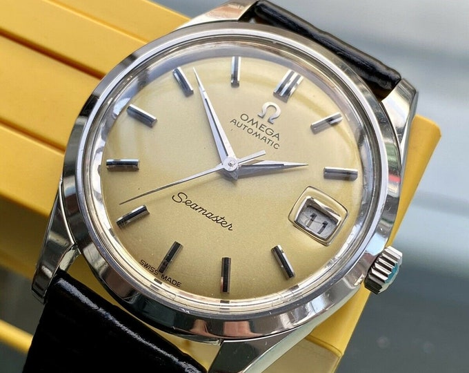 Omega Seamaster Champagne Dial Steel Mens Vintage 1968 Automatic Stunning watch