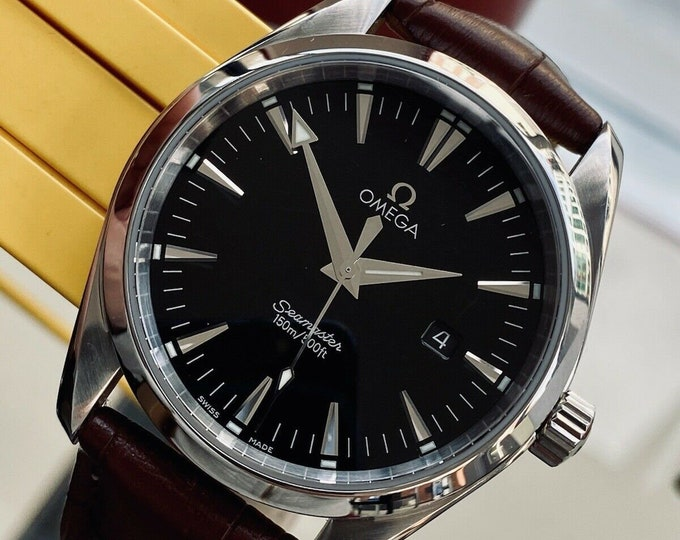 Omega Seamaster Aqua Terra Quartz Men's 150M Silver Dial 39mm mm Steel Watch Full Set Papers