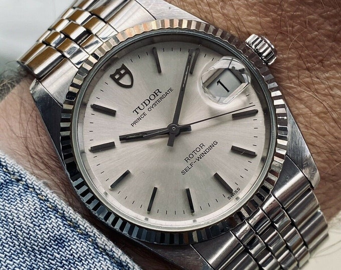 Tudor Rolex Prince Oysterdate Automatic vintage Steel Ref 74034 34mm 1993 Full Set watch + Box  + Papers